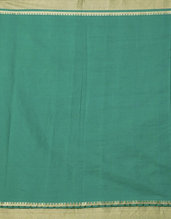 Green Pure Chanderi  Saree