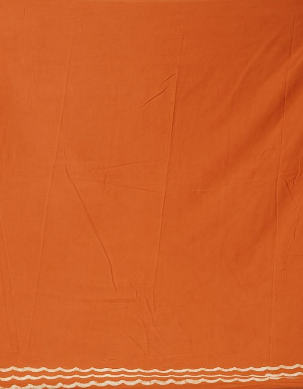 Orange Pure Kota Cotton Saree