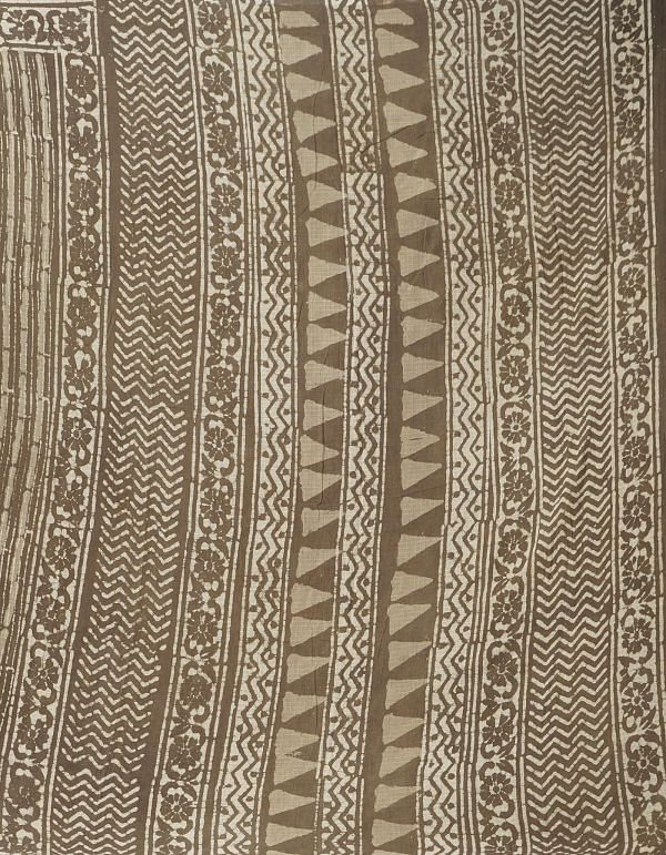 Online Shopping for Grey Pure Kota Cotton Saree with Dabu from Rajasthan at Unnatisilks.comIndia