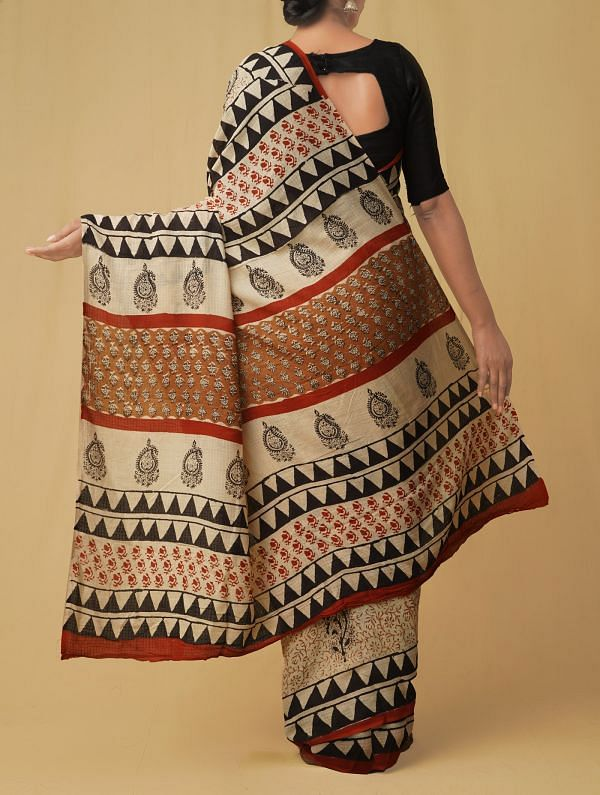 Cream Pure Kota Cotton Saree