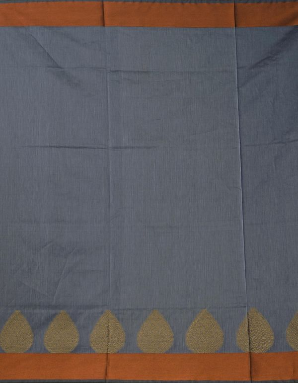 Grey Pure Kanchi Sico Saree