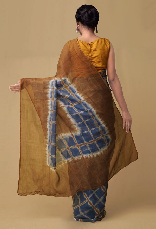 Blue Pure Kota Cotton Saree