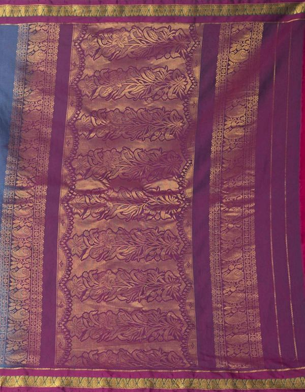 Blue Pure Gadwal Sico Saree