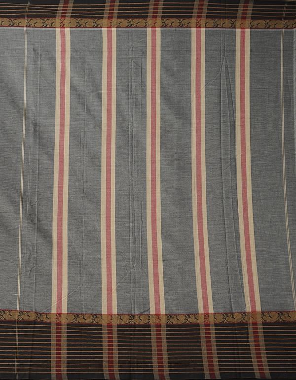 Grey Pure Handloom Narayanpet Cotton Saree