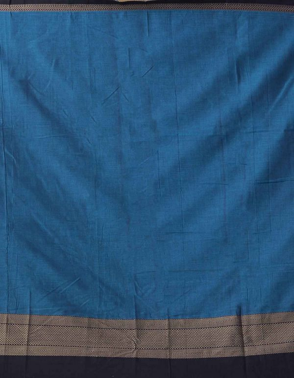 Blue Pure Handloom Narayanpet Cotton Saree
