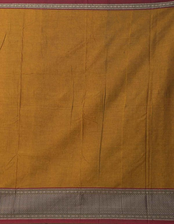Online Shopping for Brown Pure Handloom Narayanpet Cotton Saree with Weaving from Tamilnadu at Unnatisilks.comIndia