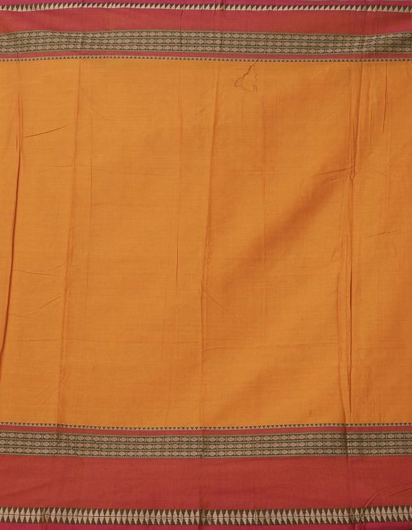 Orange Pure Handloom Naryanpet Cotton Saree