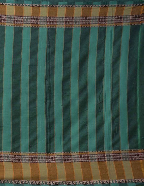Green Pure Handloom Naryanpet Cotton Saree