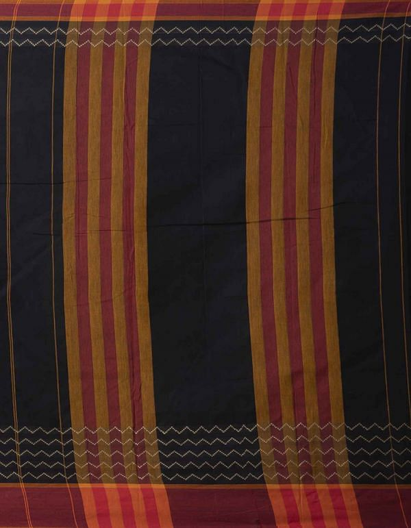 Online Shopping for Black Pure Handloom Naryanpet Cotton Saree with Weaving from Tamilnadu at Unnatisilks.comIndia