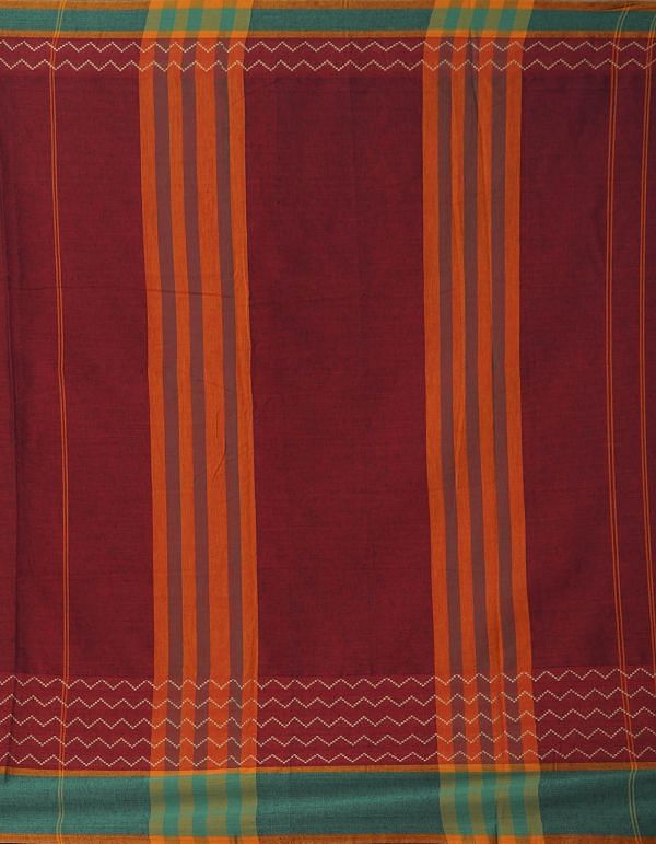 Online Shopping for Maroon Pure Handloom Naryanpet Cotton Saree with Weaving from Andhra Pradesh at Unnatisilks.comIndia