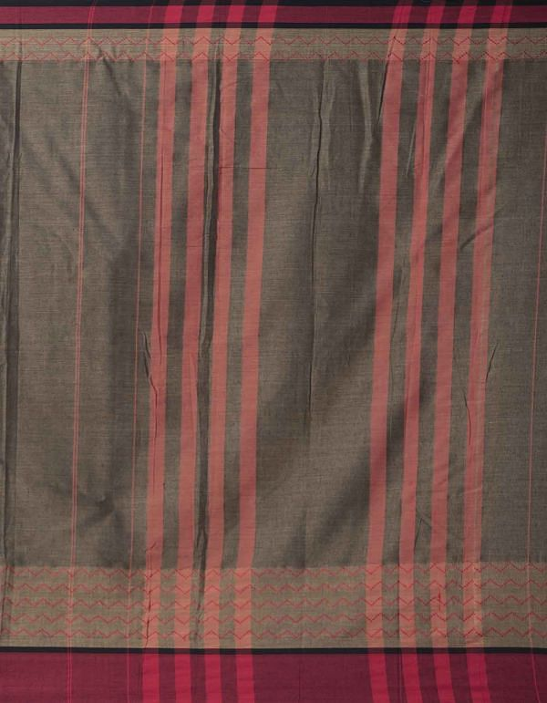 Online Shopping for Brown Pure Handloom Naryanpet Cotton Saree with Weaving from Tamilnadu at Unnatisilks.comIndia