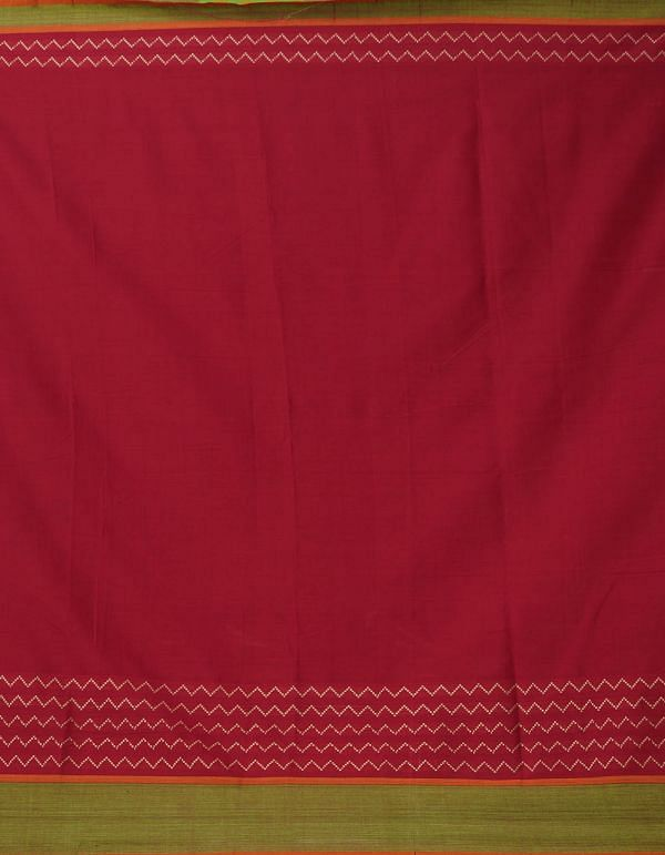 Online Shopping for Red Pure Handloom Naryanpet Cotton Saree with Weaving from Andhra Pradesh at Unnatisilks.comIndia