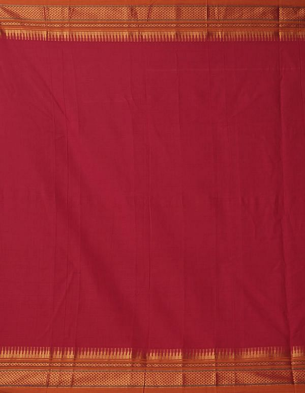 Online Shopping for Red Pure Handloom Venkatagiri Cotton Saree with Weaving from Andhra Pradesh at Unnatisilks.comIndia