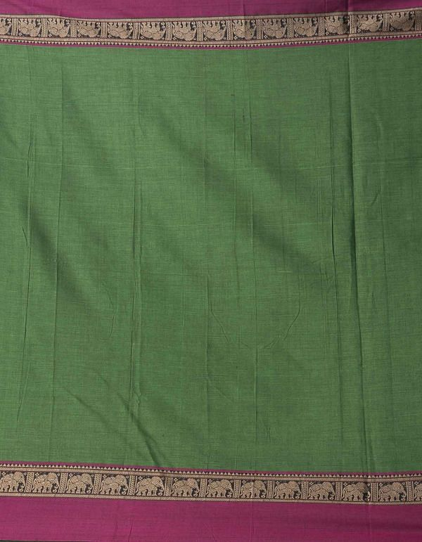 Online Shopping for Green Pure Handloom Naryanpet Cotton Saree with Weaving from Tamilnadu at Unnatisilks.comIndia