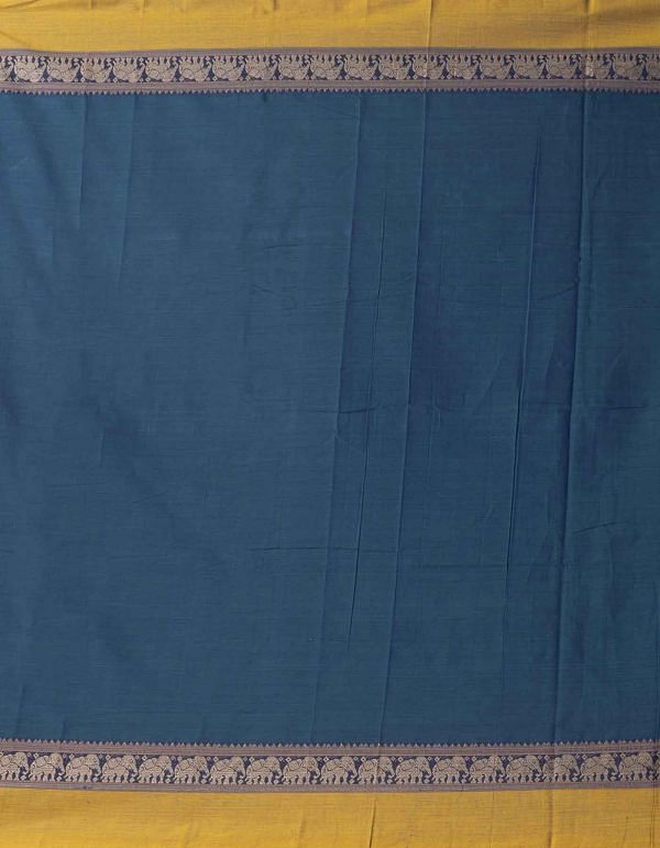 Online Shopping for Blue Pure Handloom Naryanpet Cotton Saree with Weaving from Tamilnadu at Unnatisilks.comIndia