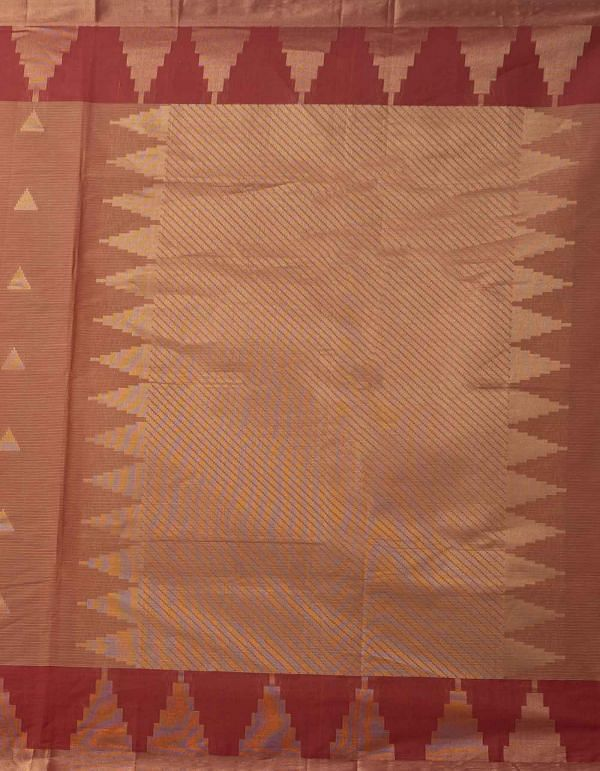Online Shopping for Red Pure Handloom Uppada Cotton Saree with Weaving from Andhra Pradesh at Unnatisilks.comIndia
