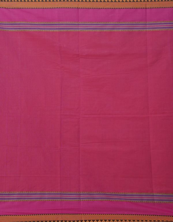 Pink Pure Pavni Handcrafted Cotton Saree