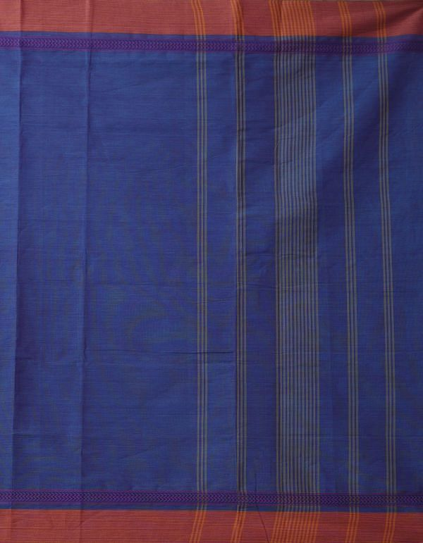 Indigo Blue Pure Pavni Handcrafted Cotton Saree