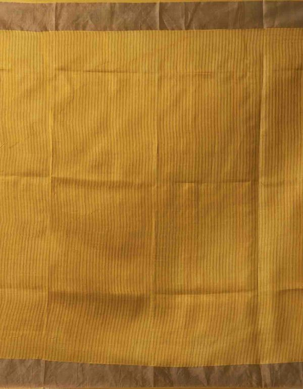 Online Shopping for Yellow-Pink Pure Handloom Bengal Tussar Silk Saree with Weaving from Tamil Nadu at Unnatisilks.comIndia