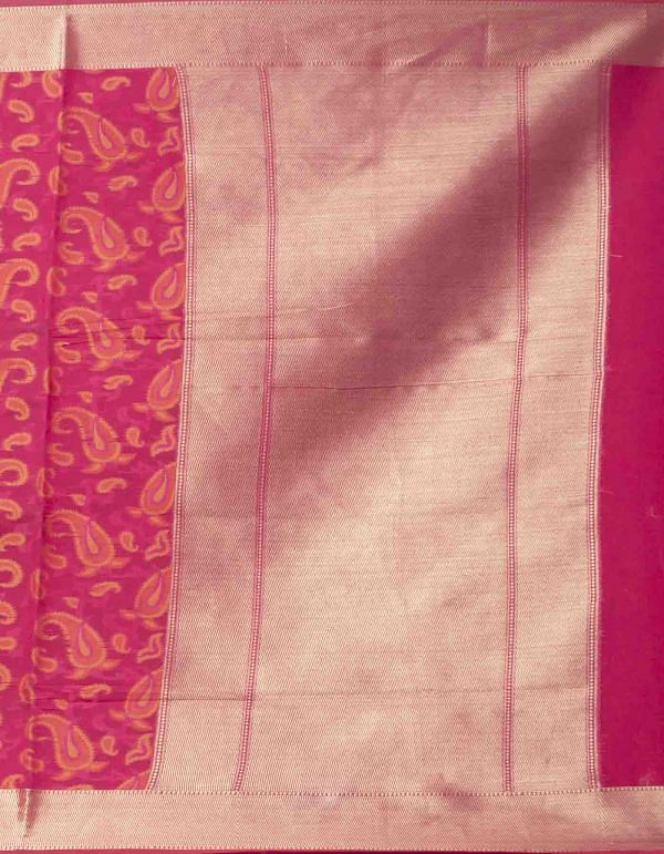 Online Shopping for Pink  Banarasi Sico Saree with Jamdhani Weaving from Uttar Pradesh at Unnatisilks.comIndia
