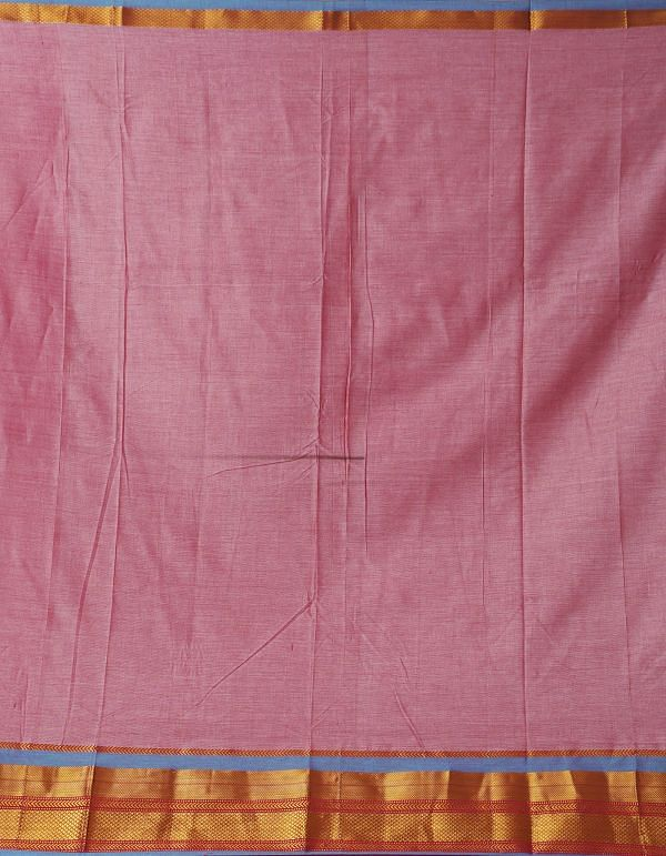 Pink Pure Handloom Narayanpet Cotton Saree