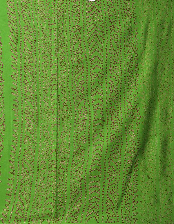 Online Shopping for Green Pure Bandhani Chiffon Georgette  Saree with Bandhani from Punjab at Unnatisilks.comIndia