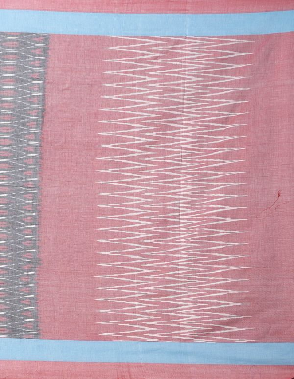 Grey Pure Handcrafted Pochampally Ikat Cotton Saree