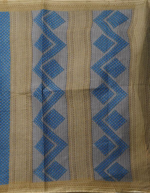 Online Shopping for Blue Pure Krisha Cotton Saree with Block Prints with Hand Block Prints from Rajasthan at Unnatisilks.comIndia