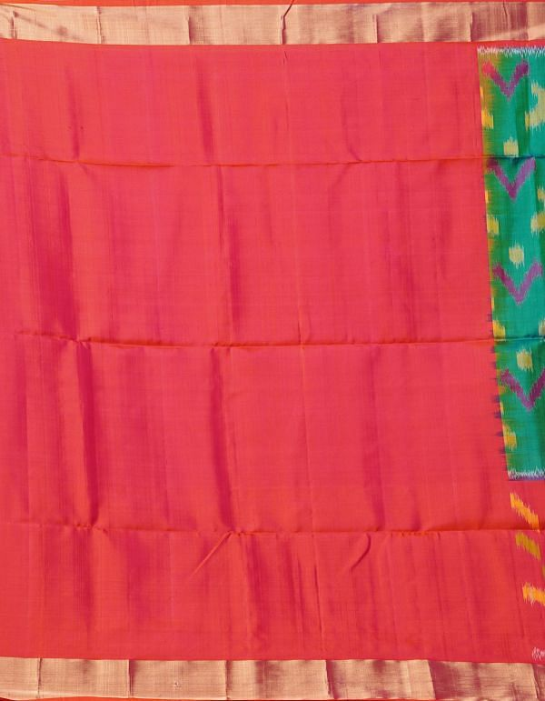 Online Shopping for Green Pure Handloom Ikat Pochampally  Saree with Ikat Weaving from Andhra Pradesh at Unnatisilks.comIndia