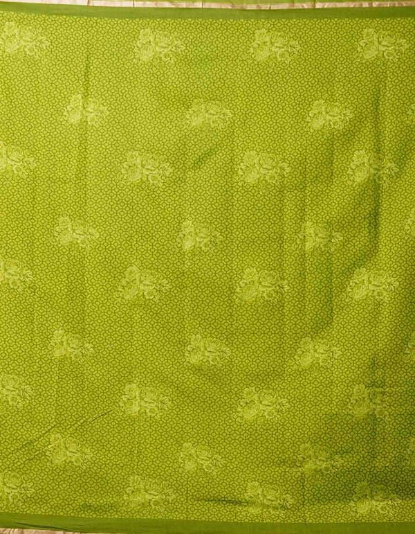 Online Shopping for Green Pure Floral Chanderi Sico Saree with Fancy/Ethnic Prints from Madhya Pradesh at Unnatisilks.comIndia