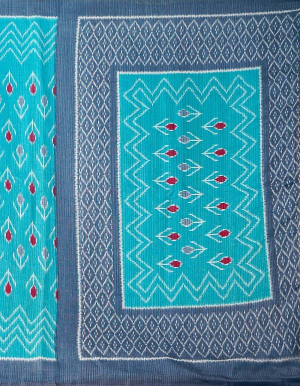 Online Shopping for Blue  Ikat Sambalpuri Silk Saree with Ikat from Orrisa at Unnatisilks.comIndia