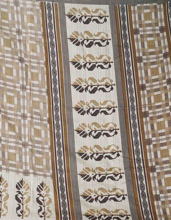 Online Shopping for Brown  Digital Printed Linen Silk Saree with Digital Prints from Orrisa at Unnatisilks.comIndia