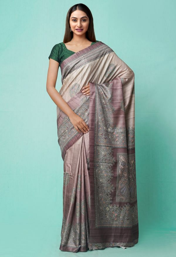 Online Shopping for Mauve Pink  Digital Printed Crepe Silk Saree with Fancy/Ethnic Prints from Punjab at Unnatisilks.comIndia