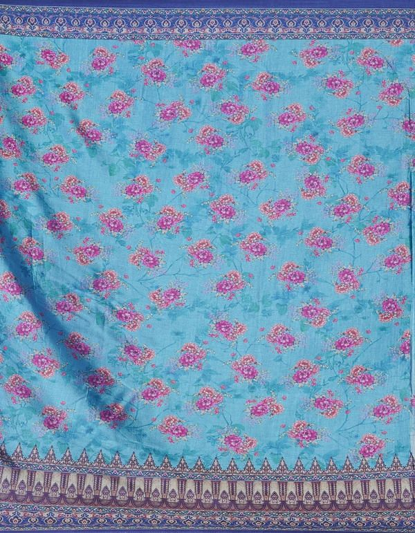 Online Shopping for Blue  Digital Printed Crepe Silk Saree with Digital Prints from Punjab at Unnatisilks.comIndia