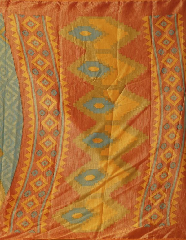 Online Shopping for Green  Digital Printed Chanderi Sico Saree with Fancy/Ethnic Prints from Madhya Pradesh at Unnatisilks.comIndia