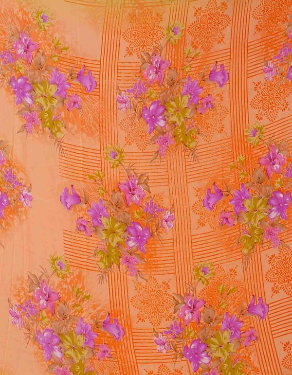 Online Shopping for Orange  Digital Printed Georgette  Saree with Digital Prints from Madhya Pradesh at Unnatisilks.comIndia