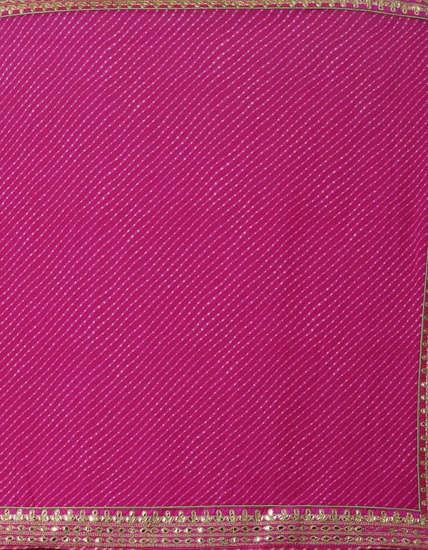 Online Shopping for Pink  Gota Patti Bandhani Chiffon  Saree with Bandhani, Gota Patti from Punjab at Unnatisilks.comIndia
