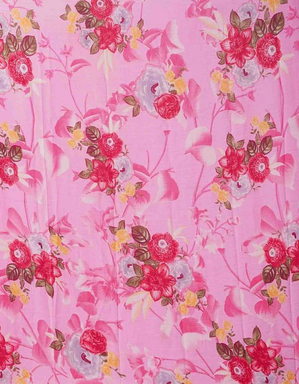 Online Shopping for Pink  Bollywood Chiffon Floral  Saree with Fancy/Ethnic Prints from Punjab at Unnatisilks.comIndia