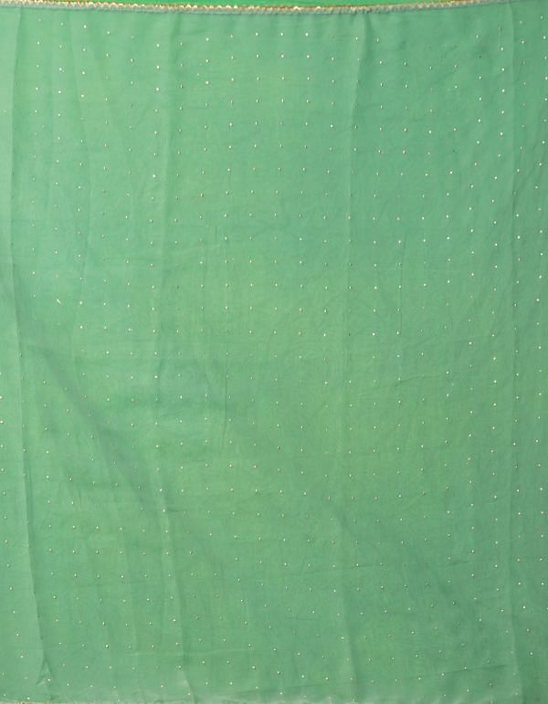 Online Shopping for Green Chiffon  Saree with Badla Embroidery with Badla Embroidery from Punjab at Unnatisilks.comIndia