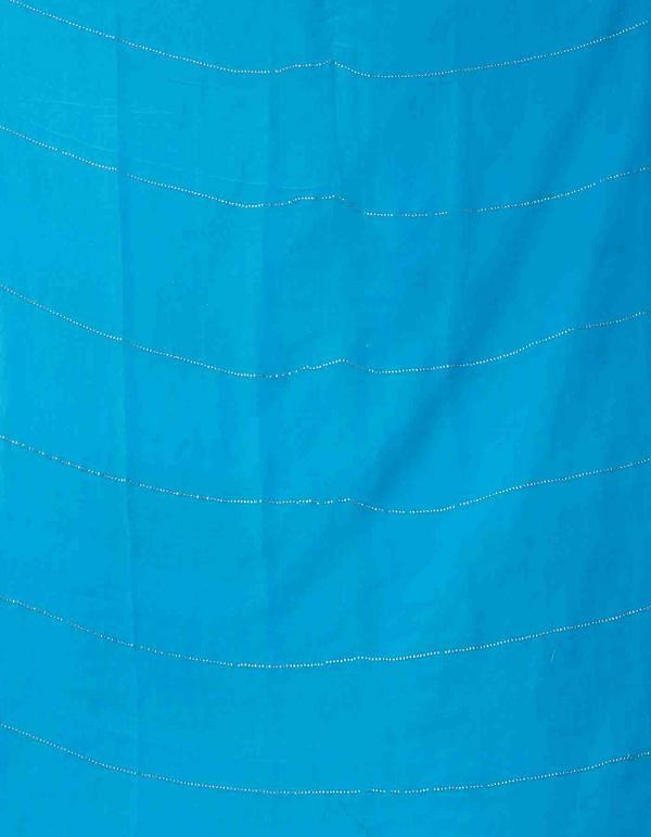 Online Shopping for Blue Chiffon  Saree with Badla Embroidery with Badla Embroidery from Punjab at Unnatisilks.comIndia