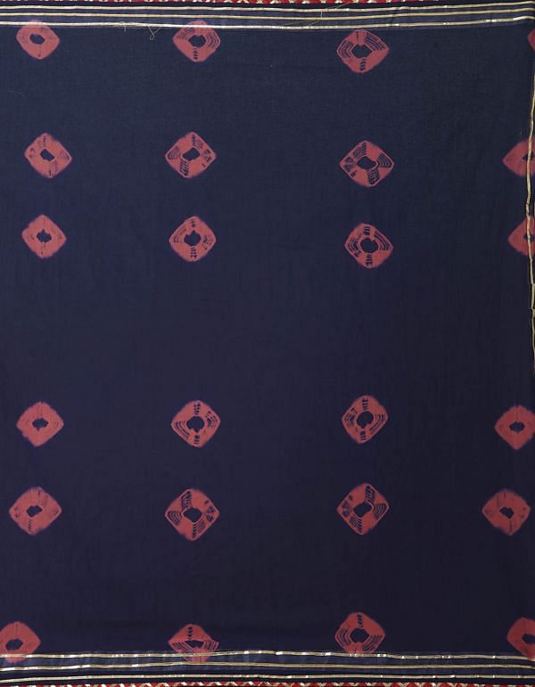 Online Shopping for Navy Blue Chiffon  Saree with Bandhani with Bandhani from Punjab at Unnatisilks.comIndia