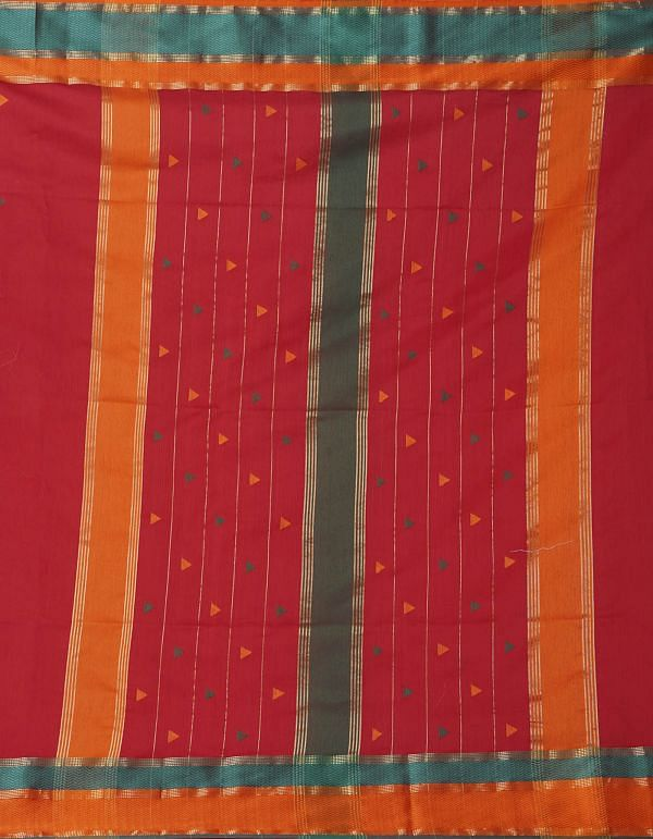Online Shopping for Red Pure Handloom Maheshwari Sico Saree with Weaving from Madhya Pradesh at Unnatisilks.comIndia