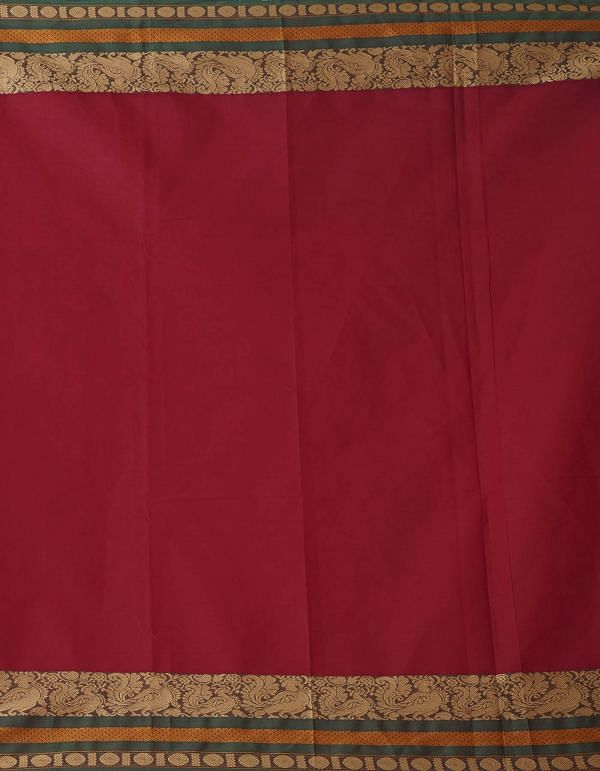 Online Shopping for Maroon Pure Handcrafted Pavni Cotton Saree with Weaving from Tamil Nadu at Unnatisilks.comIndia