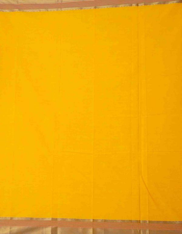 Online Shopping for Yellow Pure Handcrafted Pavni Cotton Saree with Weaving from Tamil Nadu at Unnatisilks.comIndia