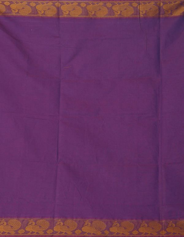 Online Shopping for Purple Pure Handcrafted Pavni Cotton Saree with Weaving from Tamilnadu at Unnatisilks.comIndia
