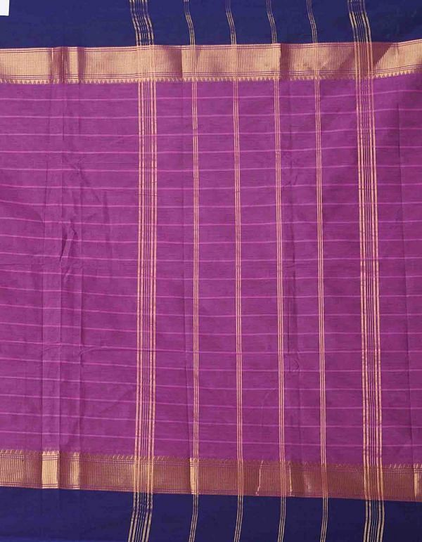 Online Shopping for Purple Pure Handcrafted Pavni Cotton Saree with Weaving from Tamil Nadu at Unnatisilks.comIndia