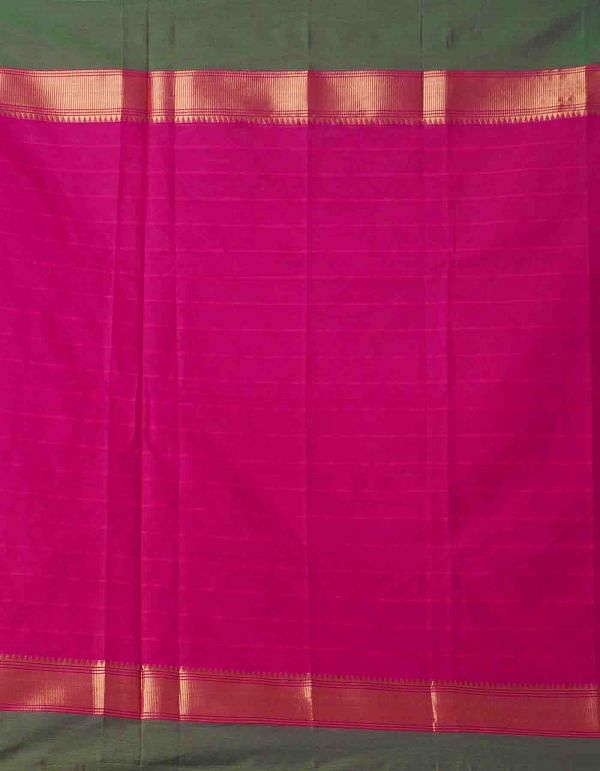Online Shopping for Pink Pure Handcrafted Pavni Cotton Saree with Weaving from Tamil Nadu at Unnatisilks.comIndia