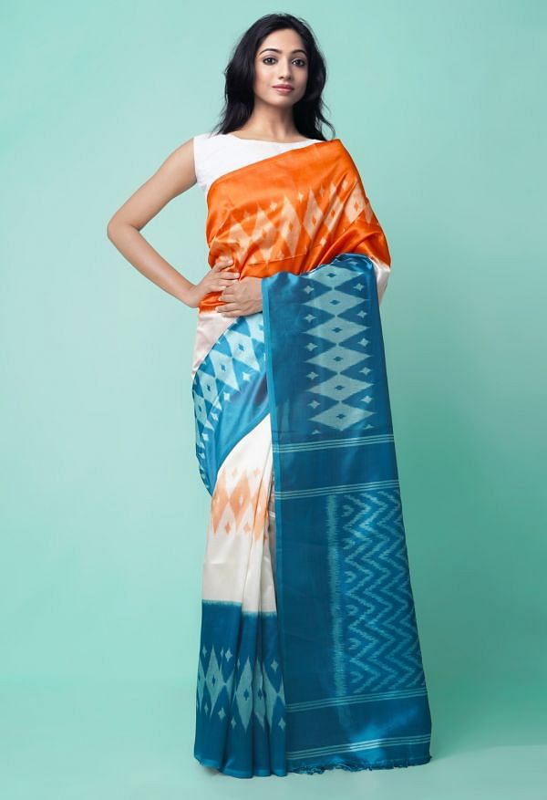 Online Shopping for Multi  Fancy Printed Art Silk Saree with Fancy/Ethnic Prints from Punjab at Unnatisilks.comIndia