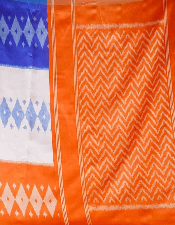Online Shopping for Multi  Fancy Printed Art Silk Saree with Patola from Punjab at Unnatisilks.comIndia