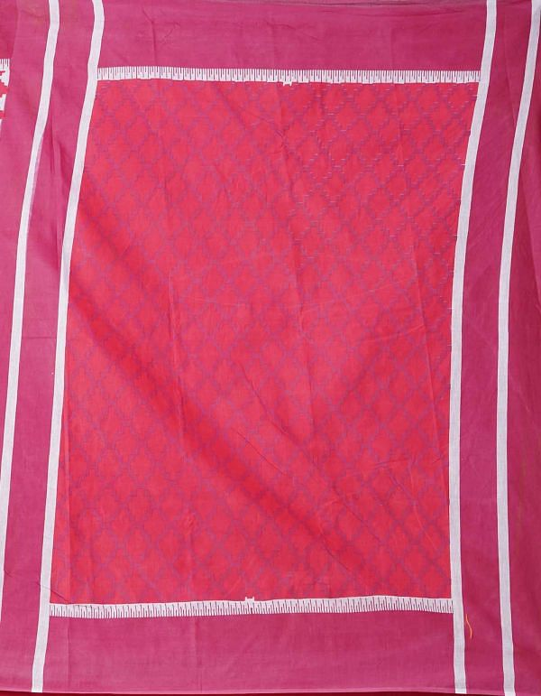 Online Shopping for Red Ikat Pochampally Cotton Saree with Ikat from Andhra Pradesh at Unnatisilks.comIndia